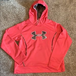 Under Armour camo camouflage pink hoodie